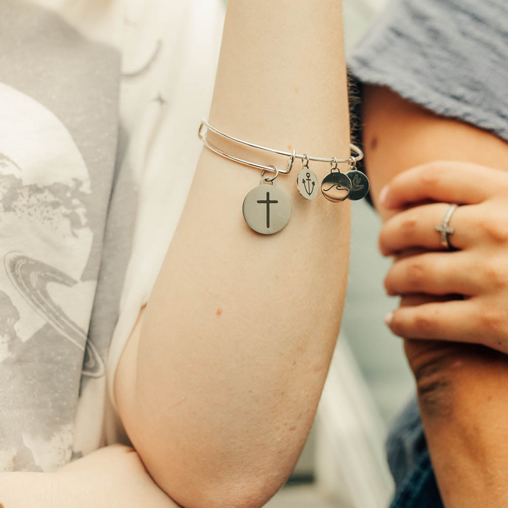 God is Greater Than the Highs and Lows Charm Bangle Bracelet - LDP-CB-CPN-GIG