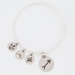 Arrow Charm Bangle Bracelet christian charm bracelet, christian bracelet, jesus bracelet,