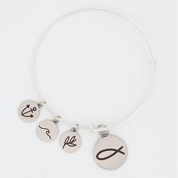 Ichthus Fish Charm Bangle Bracelet ichthus fish charm bracelet, christian bracelet, jesus bracelet,