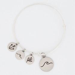 Waves Charm Bangle Bracelet waves charm bracelet, christian bracelet, jesus bracelet, ocean charm bracelet