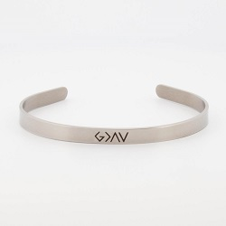 God is Greater Than the Highs and Lows Cuff Bracelet god is greater cuff bracelet, bar bracelet, scripture cuff bracelet, cuff bracelet, custom horizontal bar bracelet, silver bracelet
