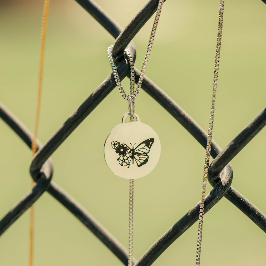 Bloom With Grace Butterfly Necklace - LDP-CPN-BWGB