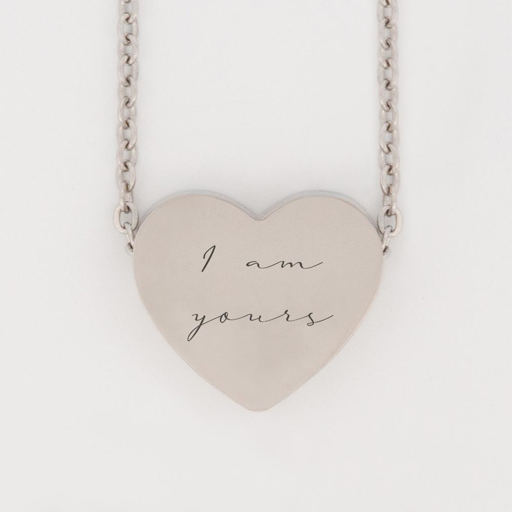 Oceans Mini Heart Necklace oceans necklace, oceans mini heart necklace, christian heart necklace, christian necklace for women, christian necklace for girls,
