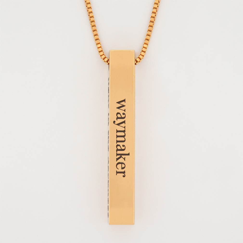 Way Maker Four Sided Bar Necklace - LDP-FSBN-WAYMKR