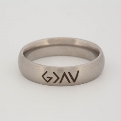 God is Greater Than the Highs and Lows Narrow Ring god is greater ring, engraved ring, personalized ring, customized ring, stainless steel ring
